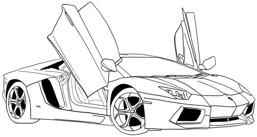1024x546 Sports Car Coloring Pages