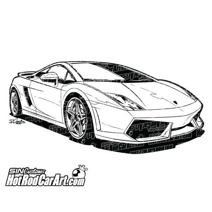 Sports Cars Drawing