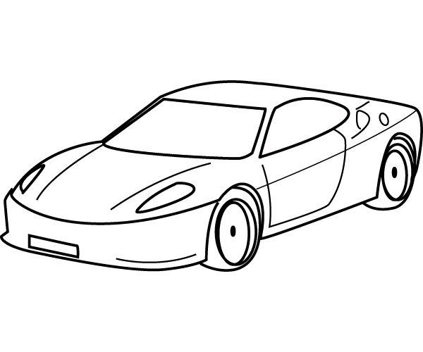 600x500 Drawing Sports Car Coloring ~ Child Coloring