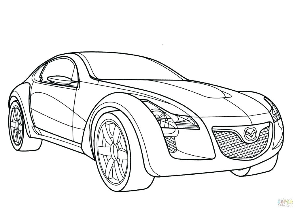 1024x724 Good Print Cars Coloring Pages Online Sports Car Page With Array X