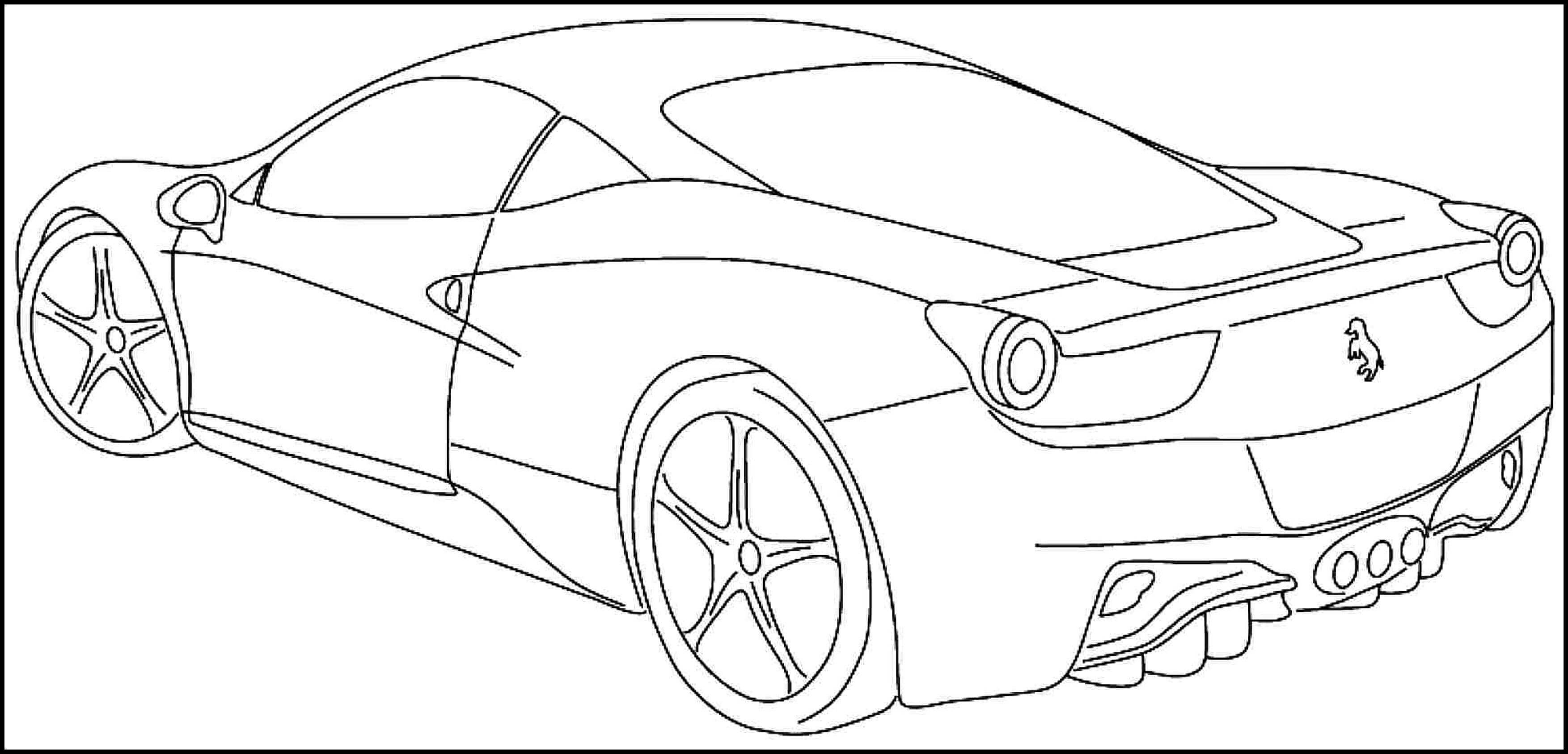 3507x1687 Printable Sports Car Coloring Pages For Kids Amp Teens. Download