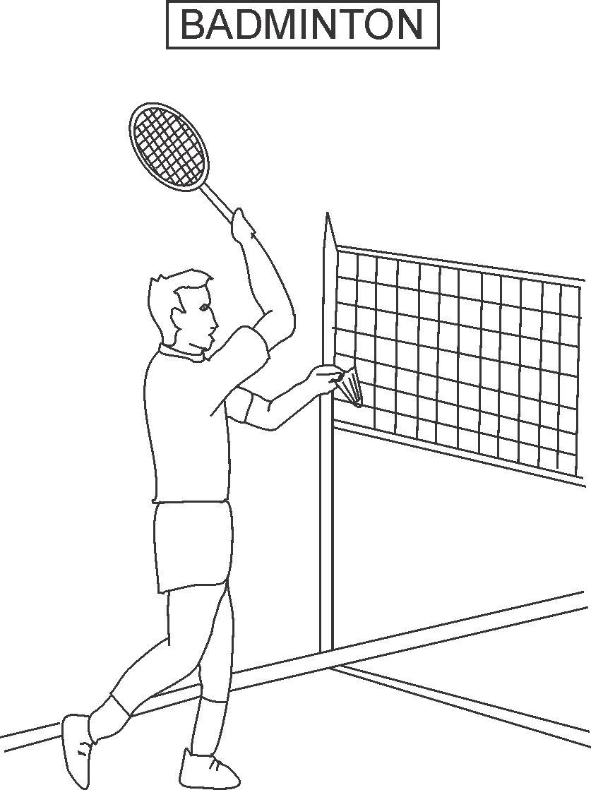 837x1119 Badminton Coloring Printable Page For Kids