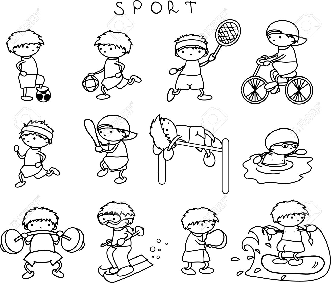 sports drawing for kids at getdrawings com free for football clip art free download football clip art free black and white