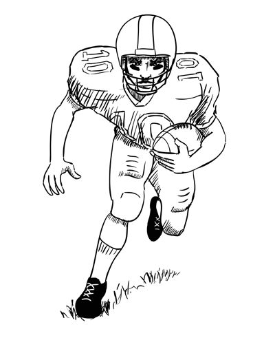 400x507 Football Player Drawing Group