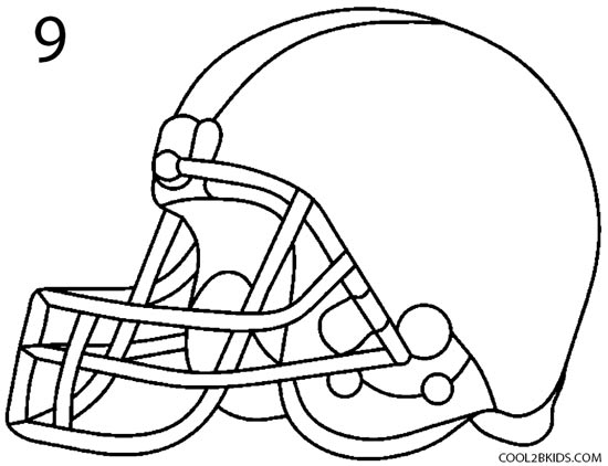 550x422 How To Draw A Football Helmet (Step By Step Pictures) Cool2bkids