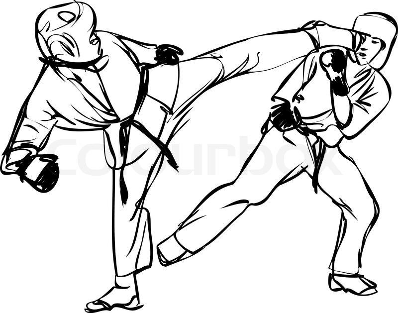 800x629 Karate Kyokushinkai Sketch Martial Arts And Combative Sports