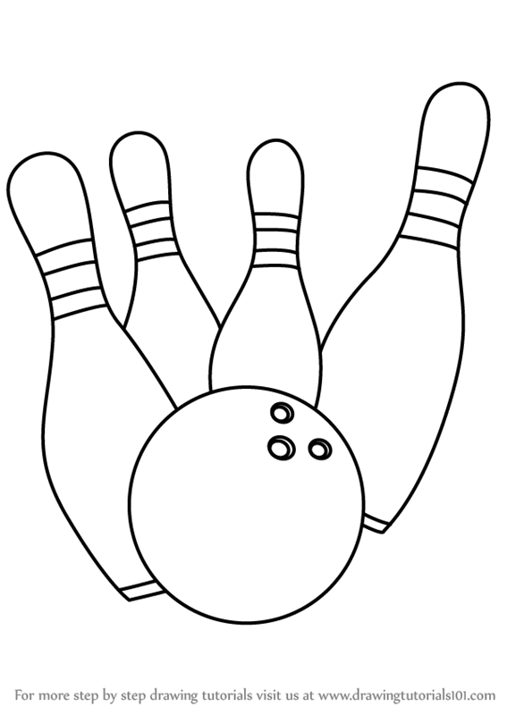 567x800 Learn How To Draw Bowling Pins (Other Sports) Step By Step