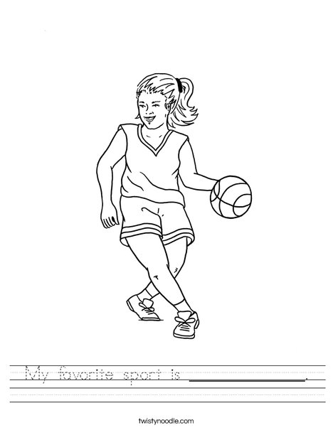 468x605 My Favorite Sport Is Worksheet