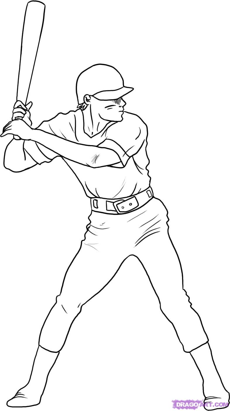 786x1405 Pictures Baseball Player Drawings,