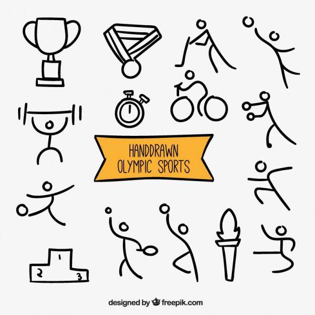 626x626 Sketches Olympic Sports Vector Free Download