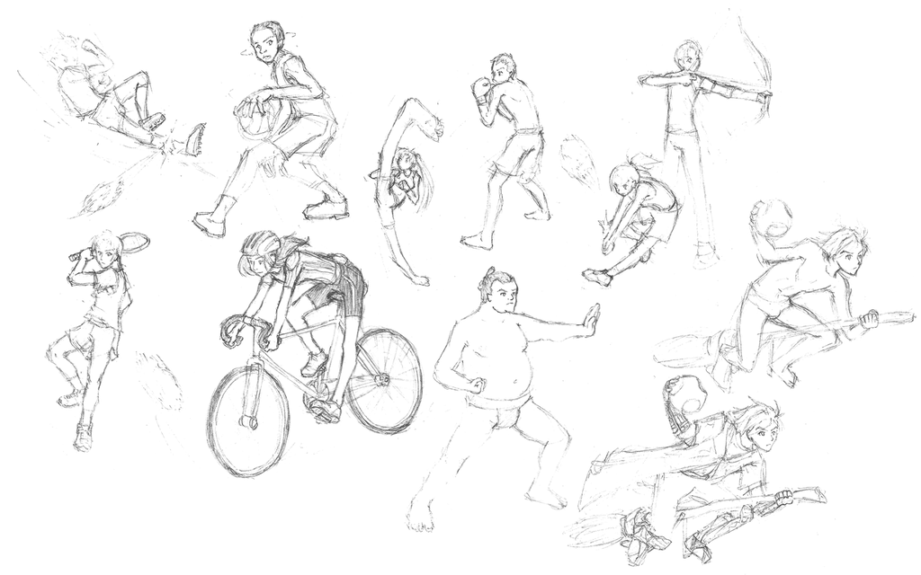 1024x640 Sports Sketches By Ranserenader