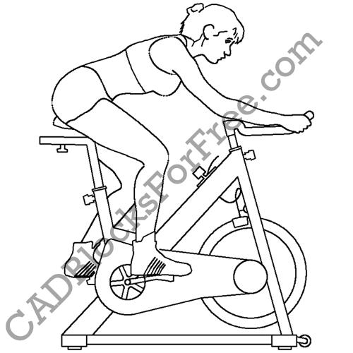 500x500 Exercise Bike Cad Blocks For Free