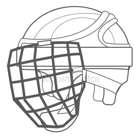 450x450 Goalkeeper Mask, Hockey Ammunition, Sports Equipment Black White