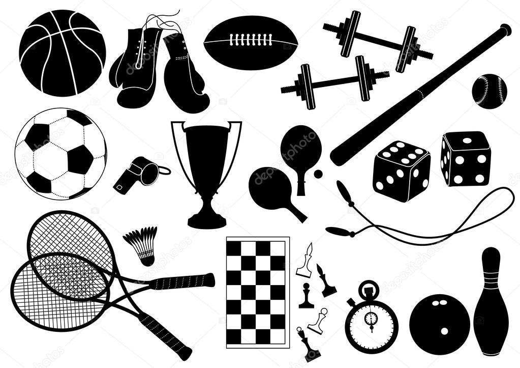 1023x723 Sports Equipment.vector Symbol Stock Vector Geraktv
