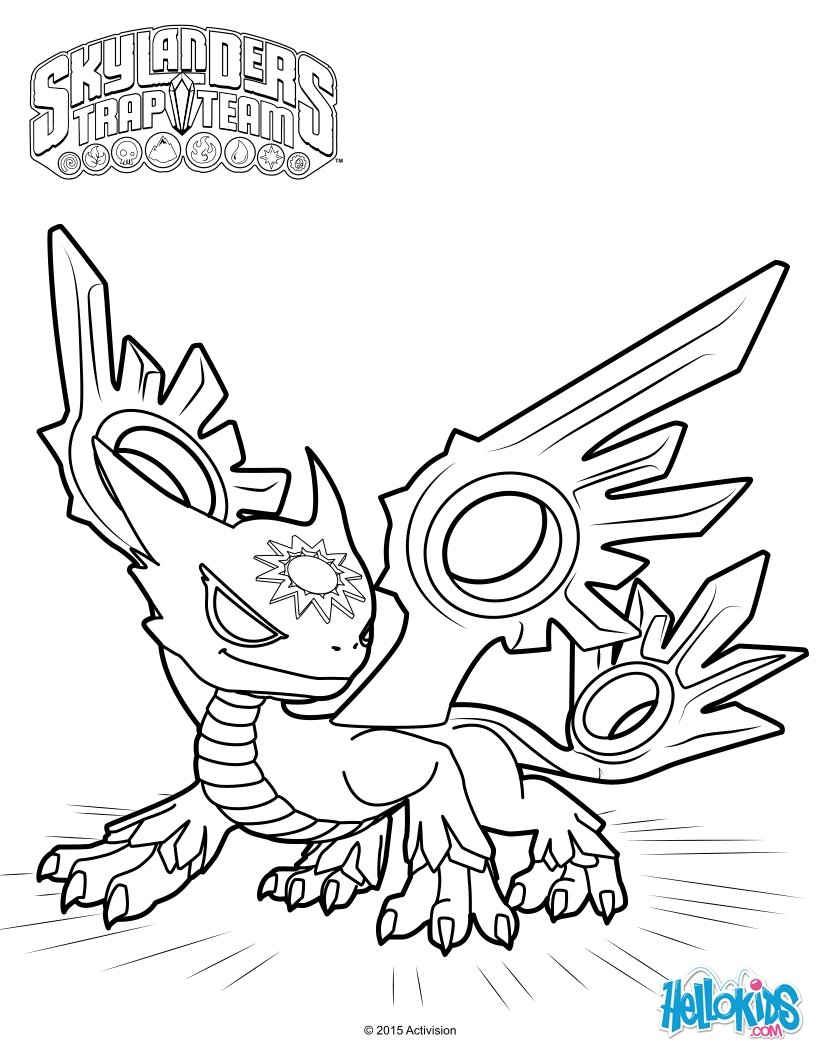 820x1060 Spotlight The White Dragon Coloring Page From Skylanders Trap Team