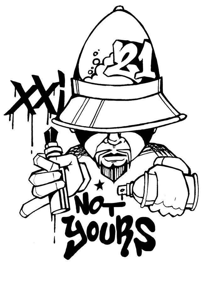 649x893 Drawn Graffiti Spray Can
