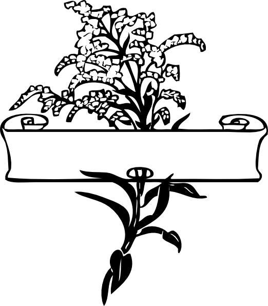 522x596 Scroll With Flower Spray Clip Art Free Vector In Open Office