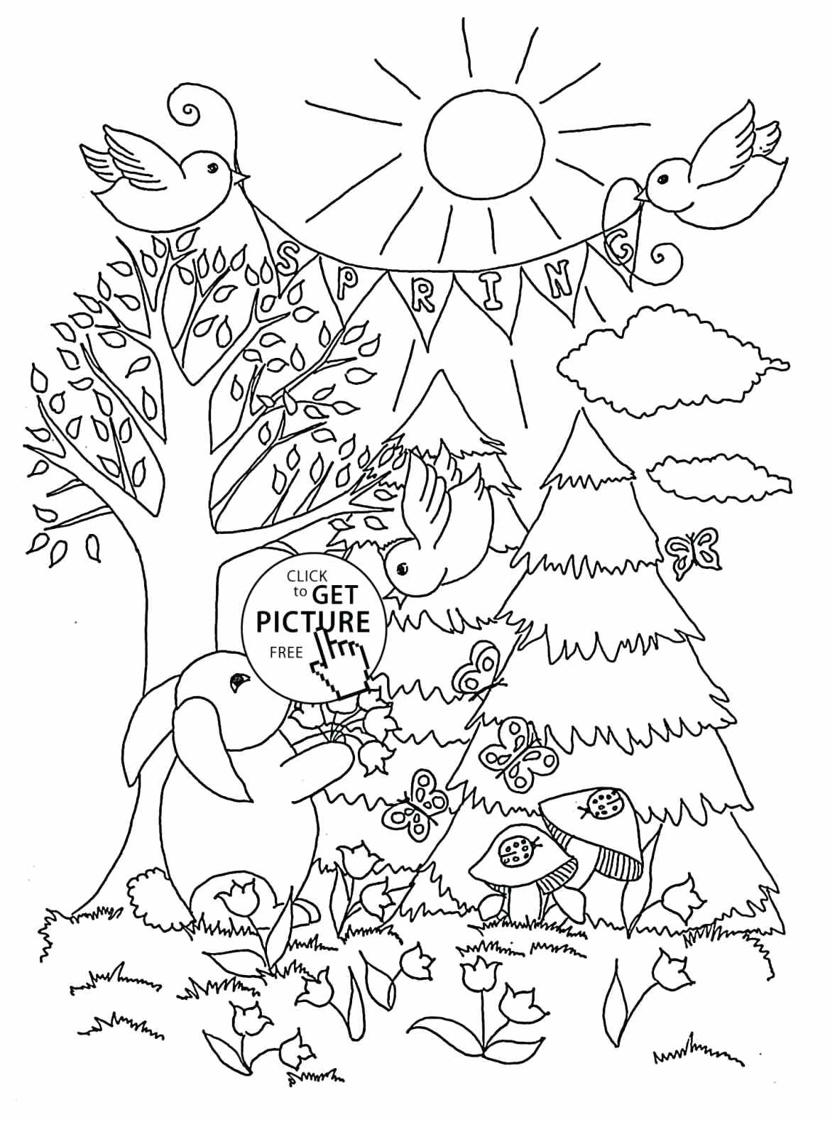 1169x1580 Coloring Spring Season Coloring Pages