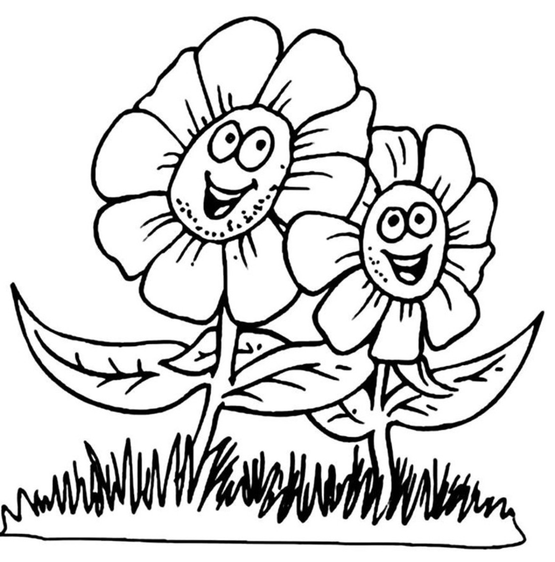 1086x1100 Free Spring Coloring Pages To Snazzy Draw Paint Printable