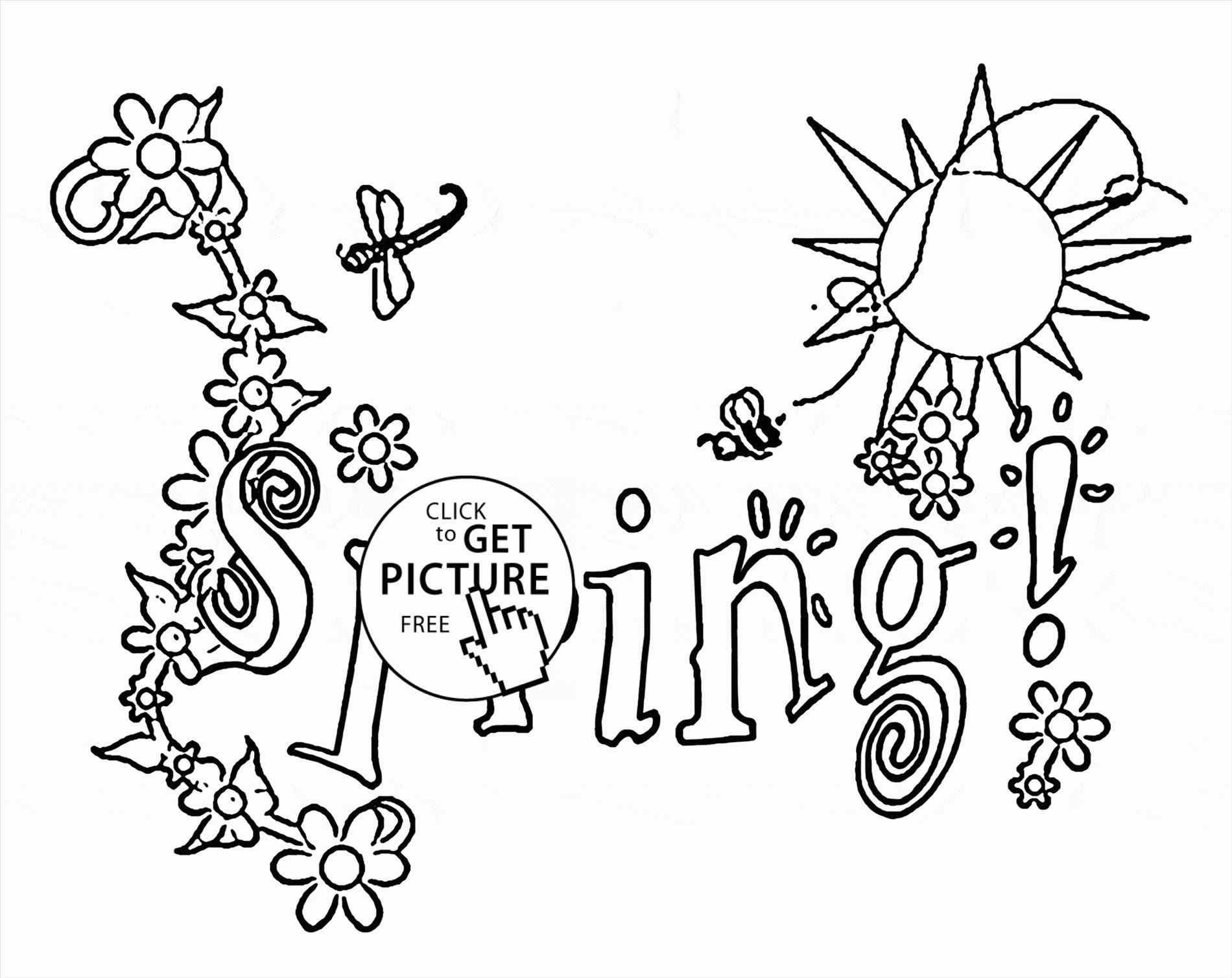 1900x1508 Happy Coloring Page Picture Spring Season Drawing Of For Happy