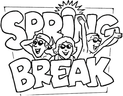 480x377 Spring Break Coloring Page Free Printable Coloring Pages
