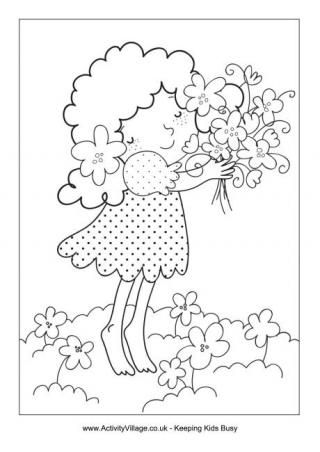 320x452 Spring Colouring Pages For Kids