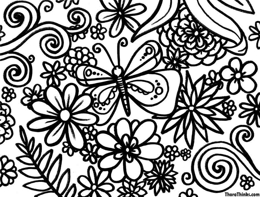 900x684 spring season - Spring Coloring Sheet