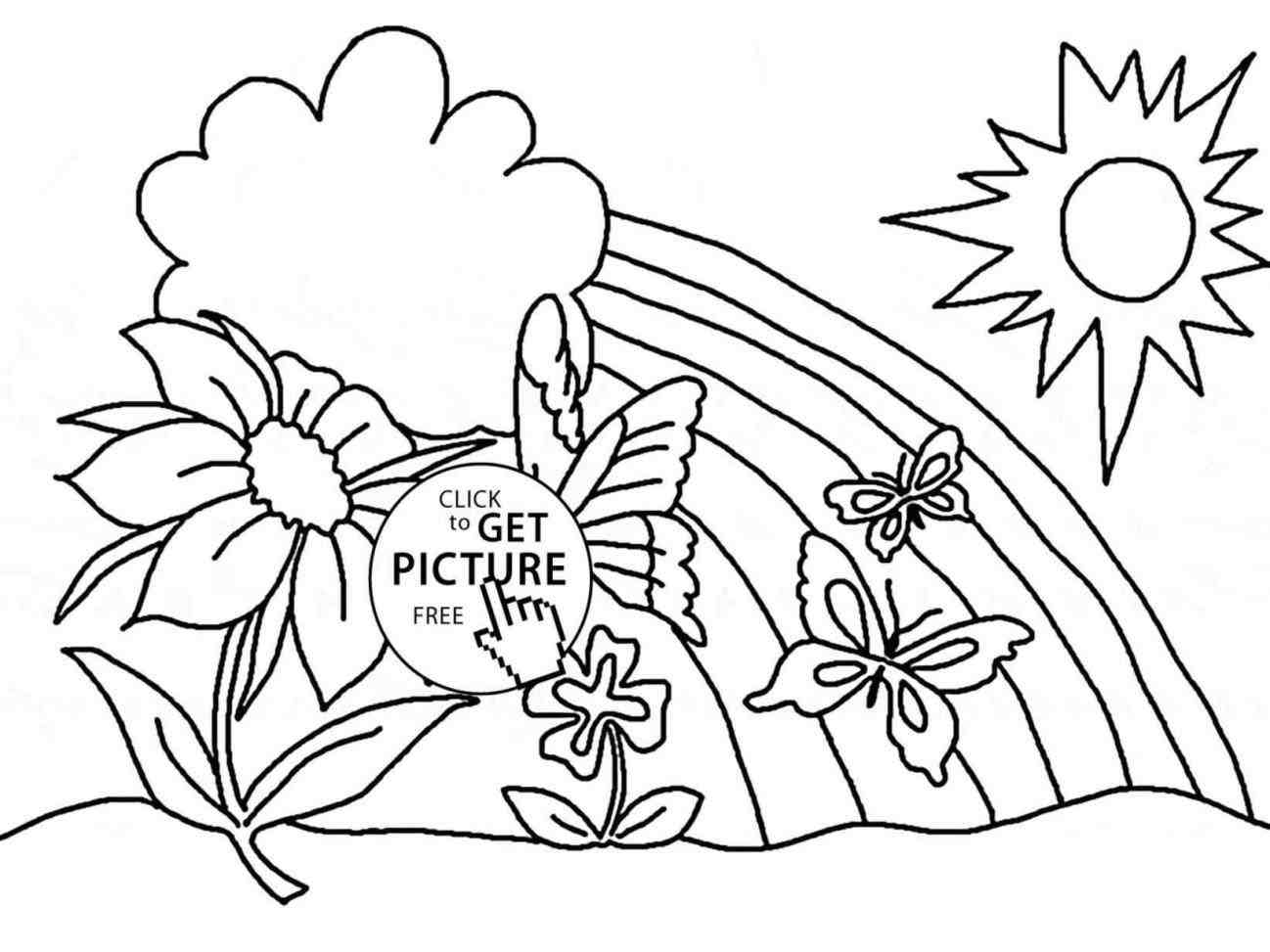 1298x973 The Images Collection Of Printable Springtime Drawing Spring