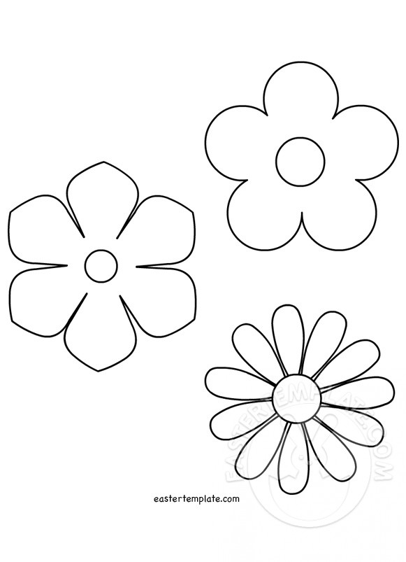 581x803 Spring Flower Template Easter Template
