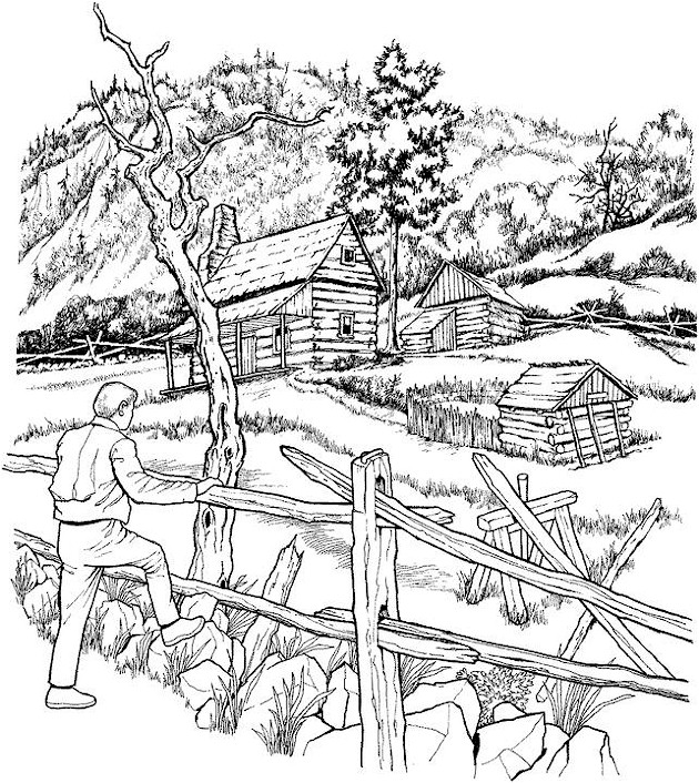 630x706 Paysage A Colorier Coloring Pages Wood Burning