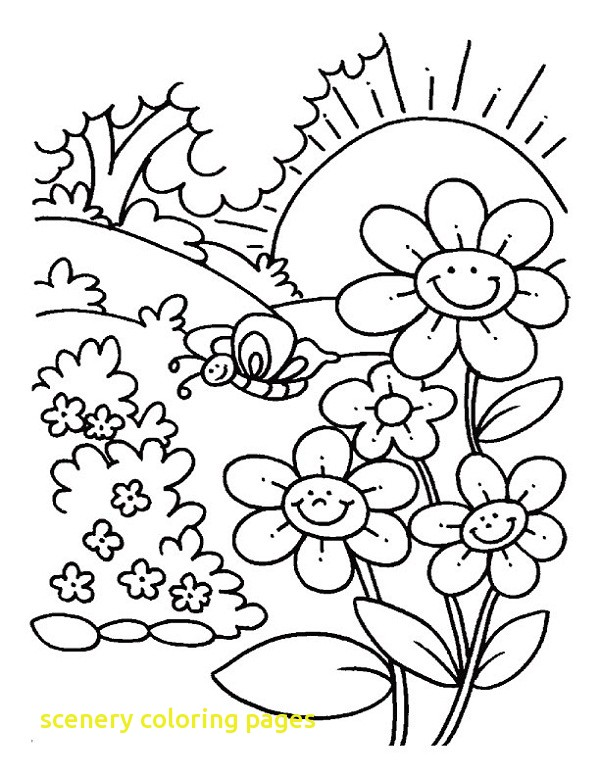 600x776 Scenery Coloring Pages With Coloring Pages For Adults Landscape