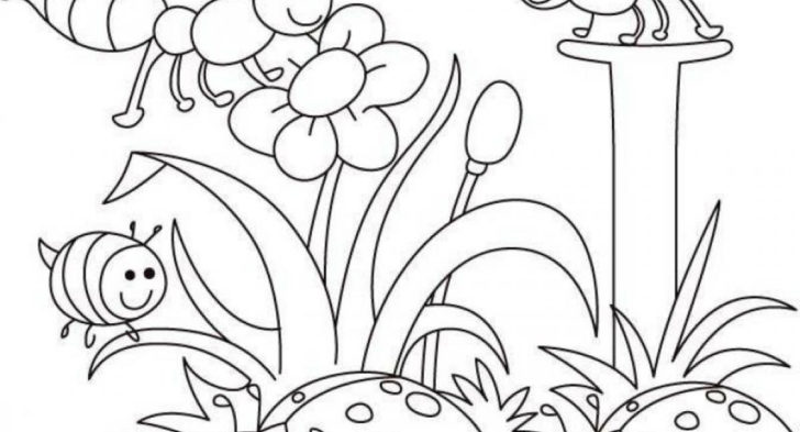 728x393 Spring Landscape Coloring Page Disney Spring Coloring Time, Spring