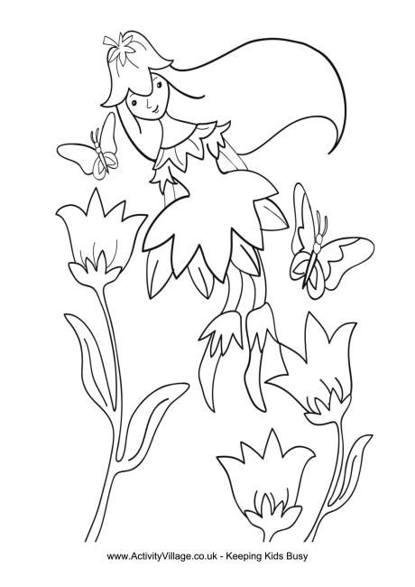 460x650 Spring Fairy Colouring Page Spring Activities For Children