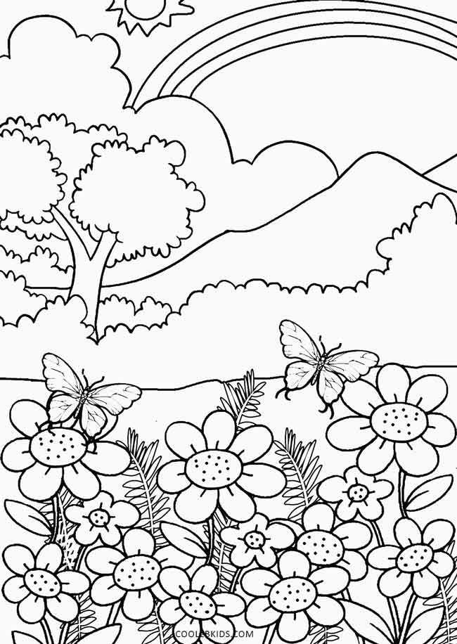 650x916 Wonderful Landscape Nature Coloring Pages