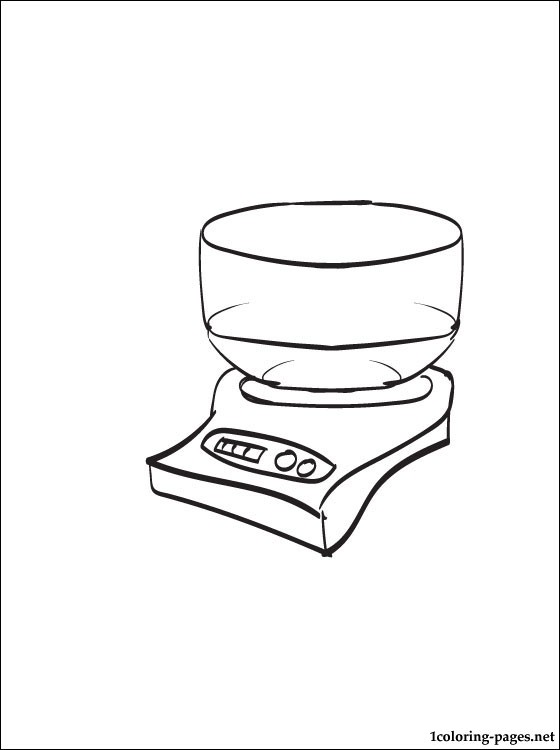 560x750 Kitchen Scale Coloring Page Coloring Pages
