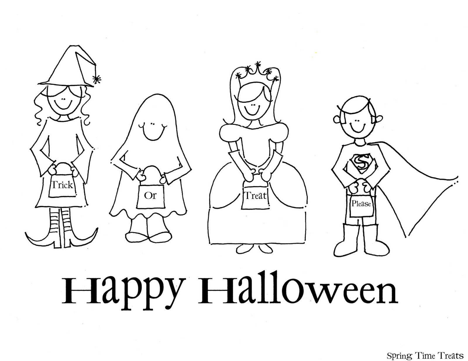 1600x1235 Spring Time Treats Happy Halloween Printable