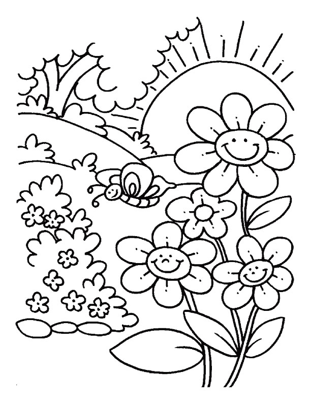 612x792 Beautiful Spring Coloring Page 15 In Kids Pages With