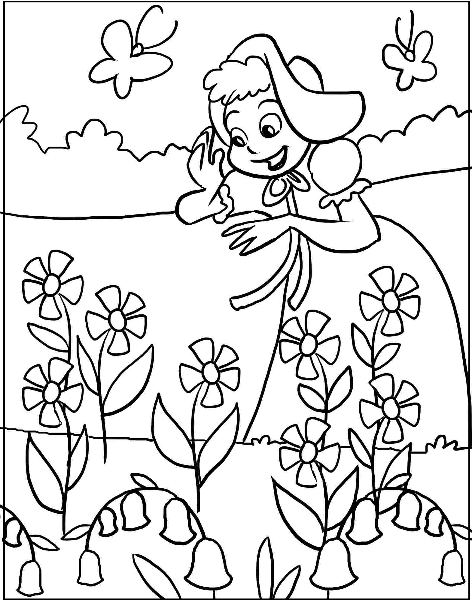 1571x2000 Spring Season Printable Coloring Picture For Kids
