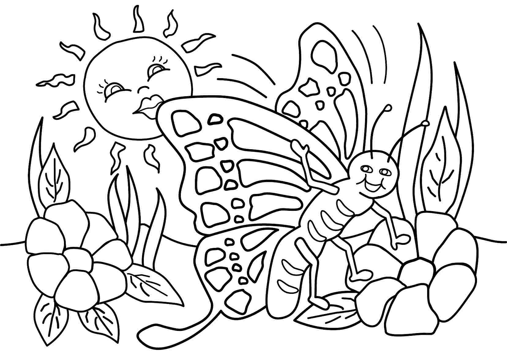 1657x1152 Springtime Coloring Pages Free 314282
