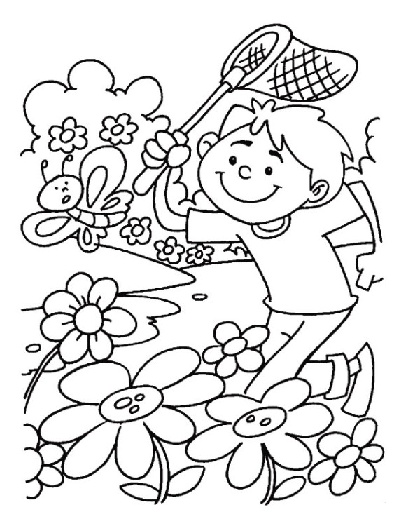 580x750 Gallery Of Spring Season Drawings Children. Coloring Pages