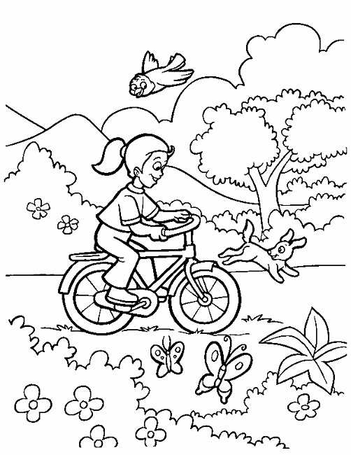 502x650 Spring Season Coloring Pages People Coloring Pages
