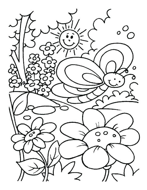 612x792 Coloring Sheets Spring Spring Coloring Pages Free Coloring Pages