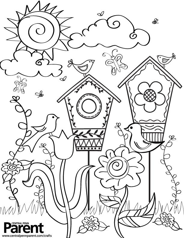 612x792 Creative Kids Springtime Coloring Page Central Penn Parent