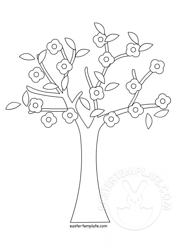 581x803 spring tree coloring pages printable easter template
