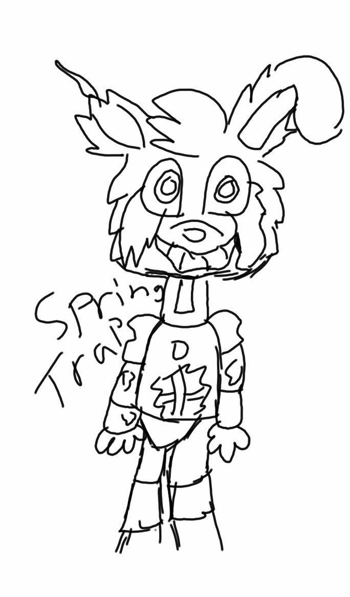Springtrap Drawing at GetDrawings com | Free for personal