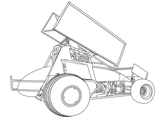 Sprint Car Drawing