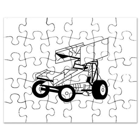 460x460 Sprint Car Puzzles, Sprint Car Jigsaw Puzzle Templates, Puzzles
