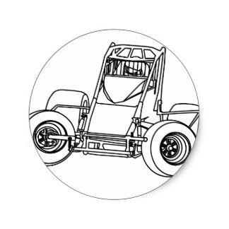 324x324 Sprint Car Stickers Zazzle