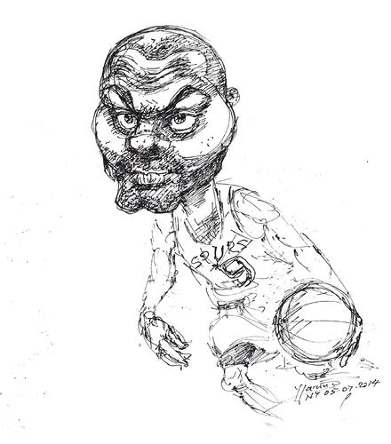 440x500 Tony Parker By Yllifinearts Sports Cartoon Toonpool