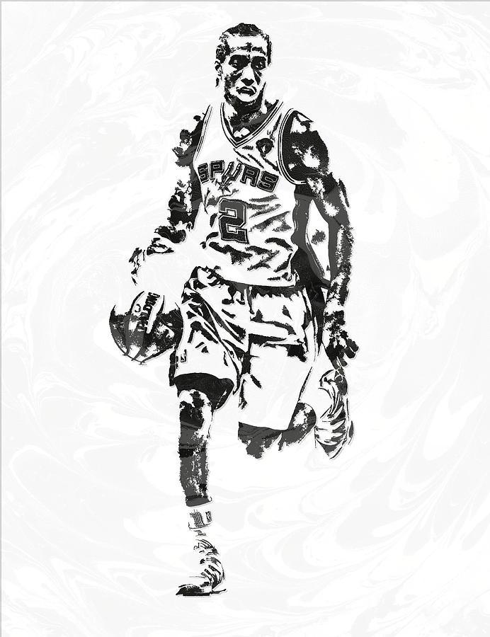 692x900 Kawhi Leonard San Antonio Spurs Pixel Art 6 Mixed Media By Joe